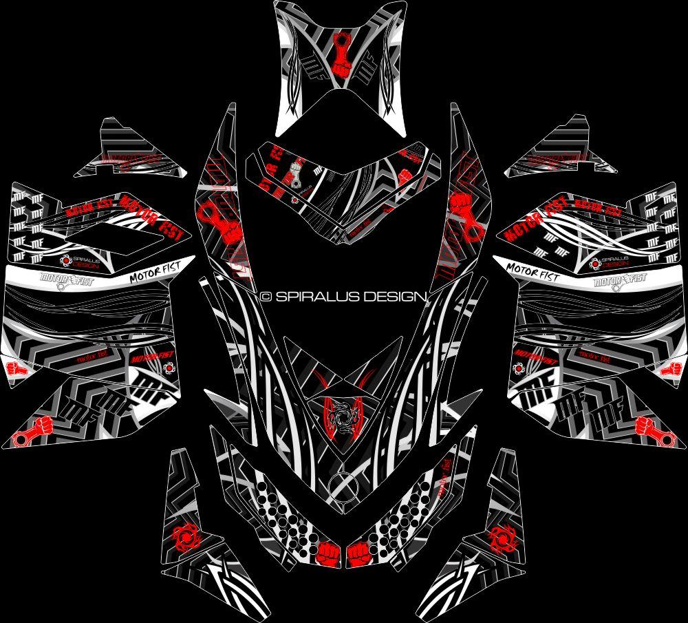Ski Doo Rev Xp Motorfist Sled Graphic Summit Renegade Mxz