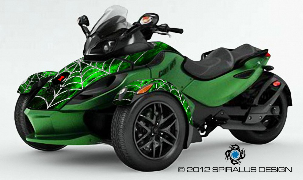 Can Am Spyder Black Widow Graphic Kit