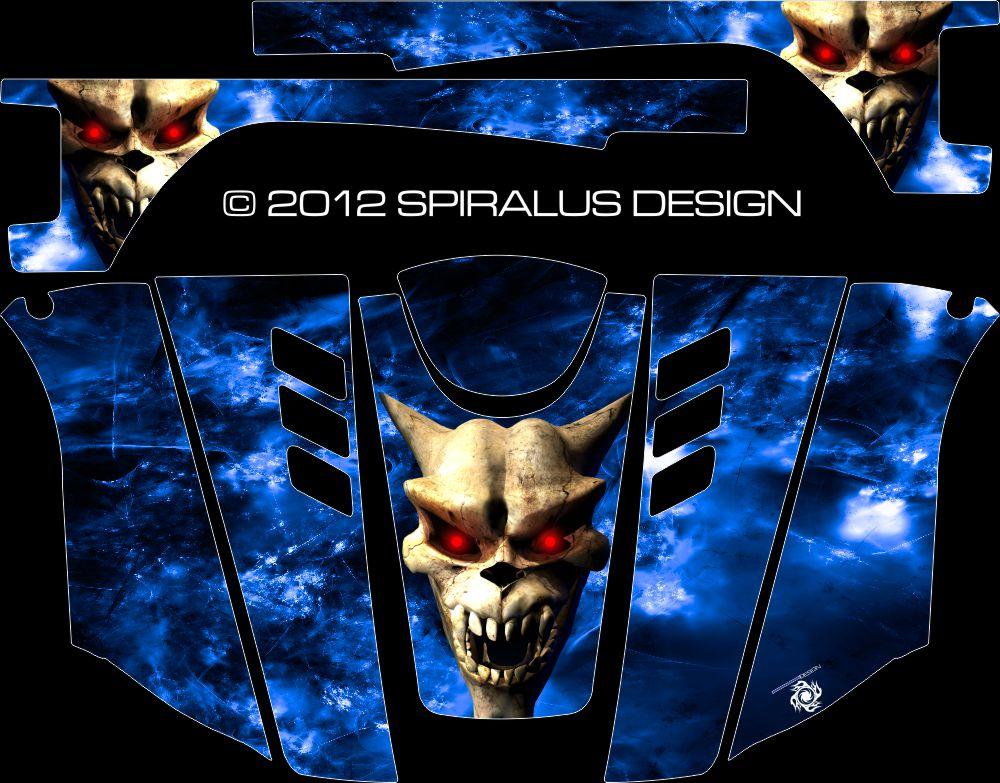 Yamaha Rhino Graphic Kit - Hells Fury
