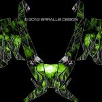 "Arctic Cat Proclimb/Procross wrap, ""Devil"" shown in green"